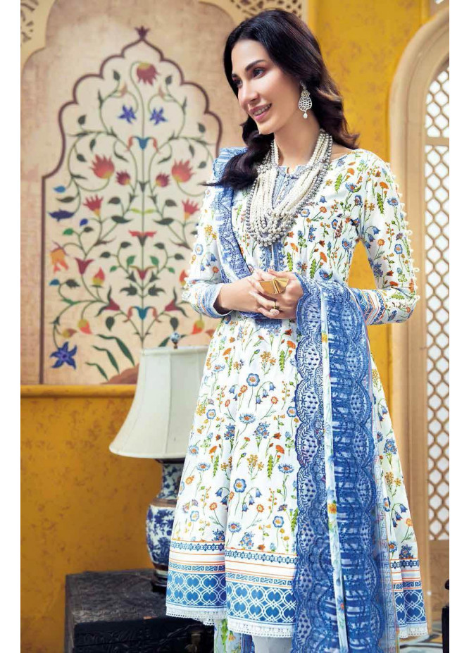Gul Ahmed Embroidered Lawn Suits Unstitched 3 Piece GA21S BCT 26 - Summer Collection
