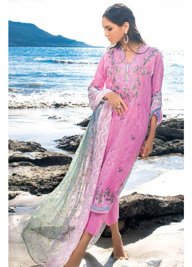 Gul Ahmed Embroidered Lawn Suits Unstitched 3 Piece GA21S BCT 32 - Summer Collection