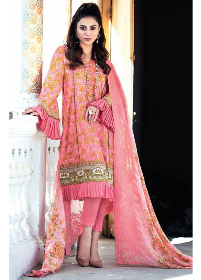 Gul Ahmed Embroidered Lawn Suits Unstitched 3 Piece GA21S BCT 38 - Summer Collection