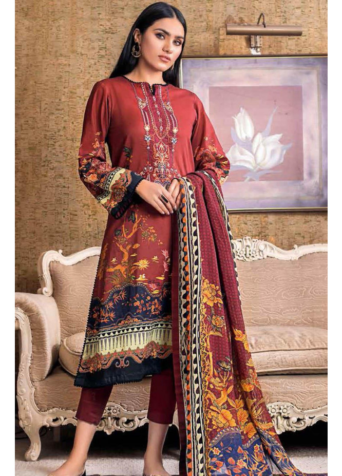 Gul Ahmed Embroidered Lawn Suits Unstitched 3 Piece GA21S BM 164 - Summer Collection