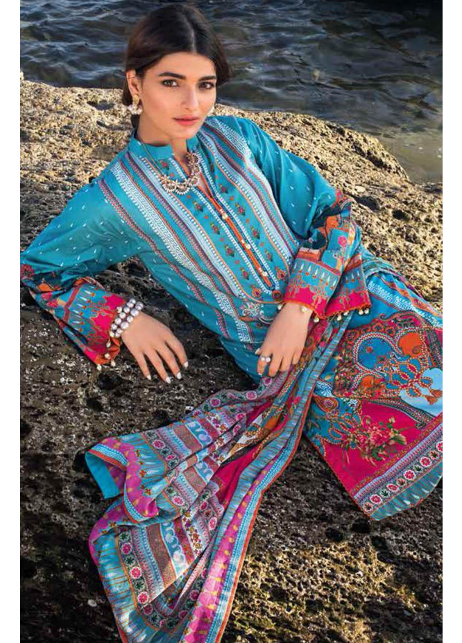 Gul Ahmed Embroidered Lawn Suits Unstitched 3 Piece GA21S BM 174 - Summer Collection