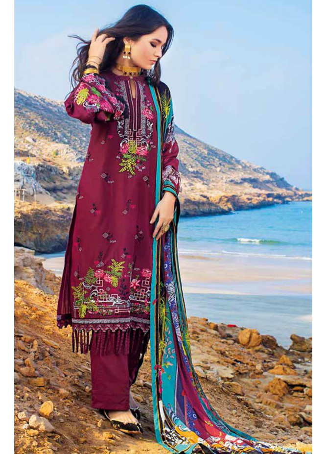 Gul Ahmed Embroidered Lawn Suits Unstitched 3 Piece GA21S BM 191 - Summer Collection