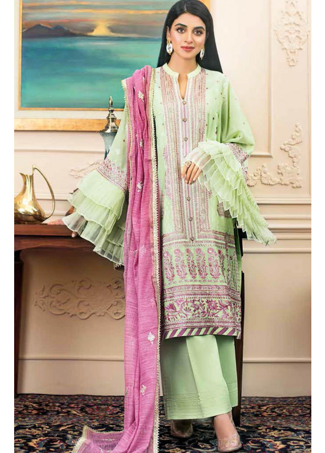 Gul Ahmed Embroidered Swiss Voile Suits Unstitched 3 Piece GA21S FS 10 - Summer Collection