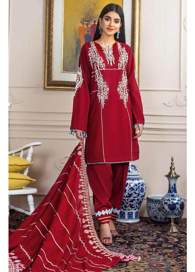 Gul Ahmed Embroidered Lawn Suits Unstitched 3 Piece GA21S FS 12 - Summer Collection