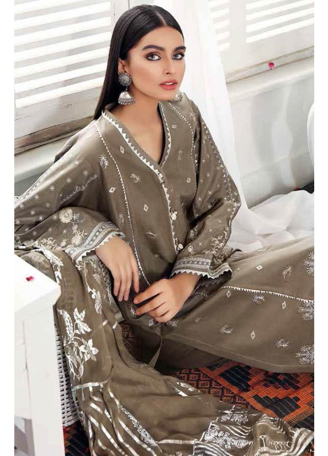 Gul Ahmed Embroidered Lawn Suits Unstitched 3 Piece GA21S FS 27 - Summer Collection