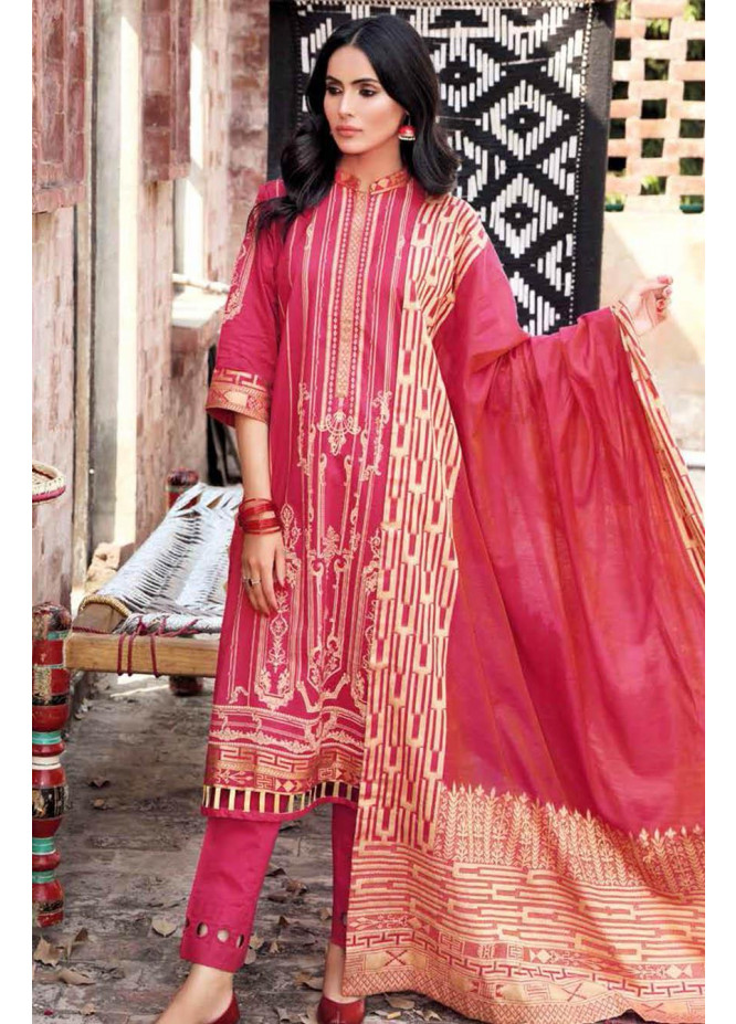 Gul Ahmed Embroidered Lawn Suits Unstitched 3 Piece GA21S FS 31 - Summer Collection