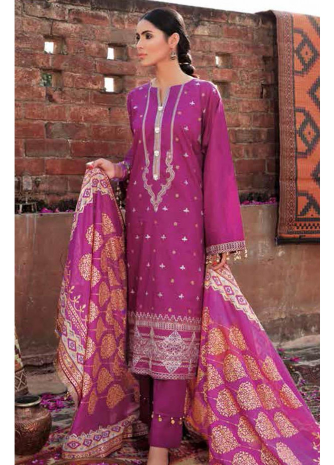 Gul Ahmed Embroidered Cotton Suits Unstitched 3 Piece GA21S FS 34 - Summer Collection