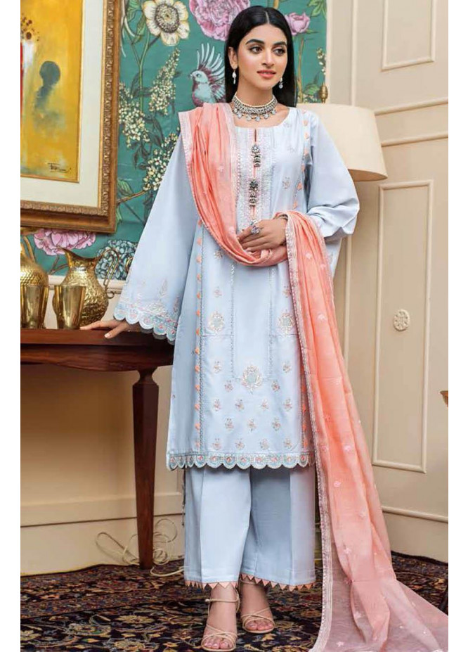 Gul Ahmed Embroidered Lawn Suits Unstitched 3 Piece GA21S FS 36 - Summer Collection