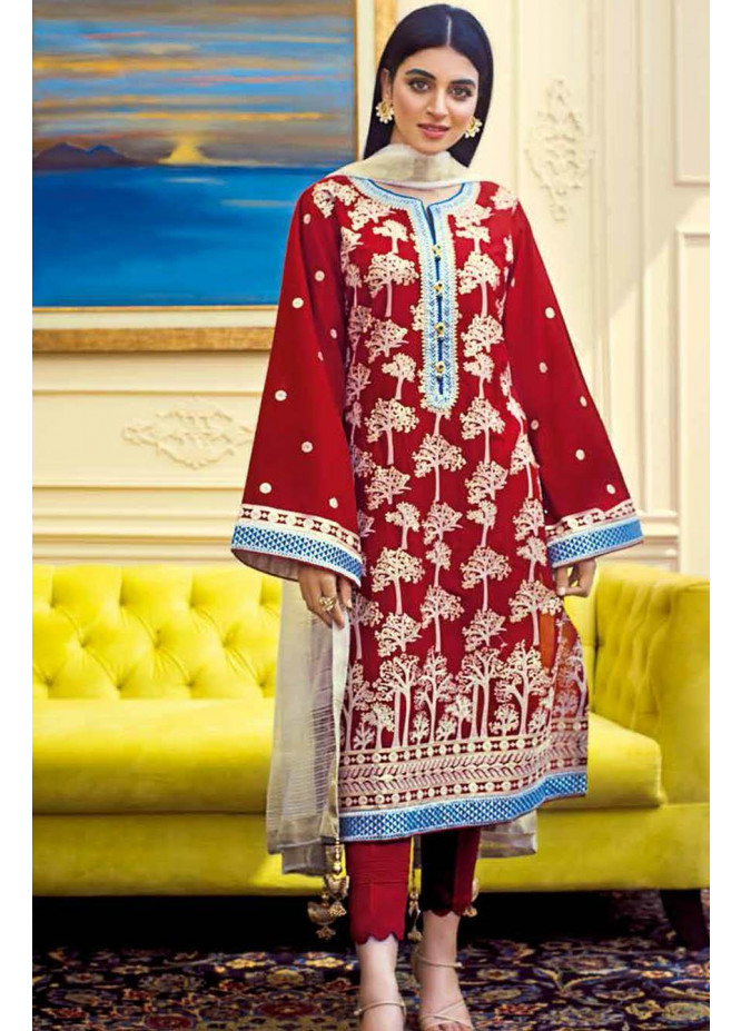 Gul Ahmed Embroidered Lawn Suits Unstitched 3 Piece GA21S FS 37 - Summer Collection