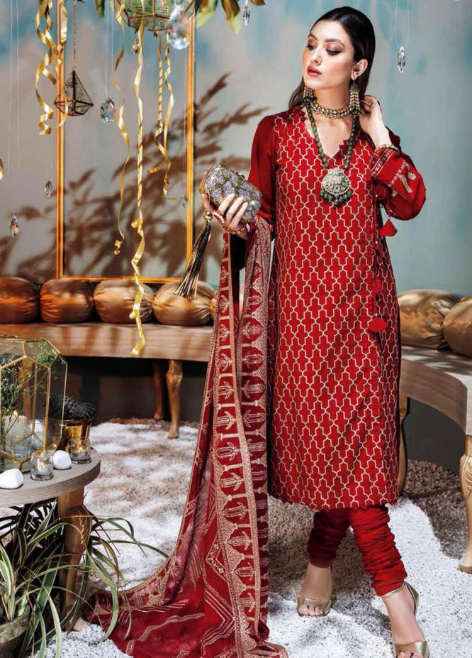 Gul Ahmed Embroidered Lawn Suits Unstitched 3 Piece GA21S FS 51 - Summer Collection