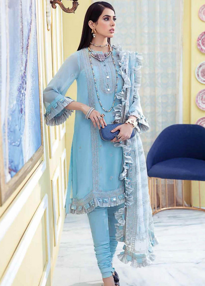 Gul Ahmed Embroidered Chiffon Suits Unstitched 3 Piece GA21S LE 28 - Summer Collection