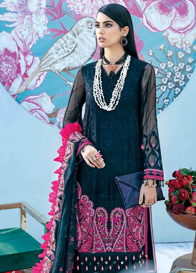 Gul Ahmed Embroidered Chiffon Suits Unstitched 3 Piece GA21S LE 29 - Summer Collection