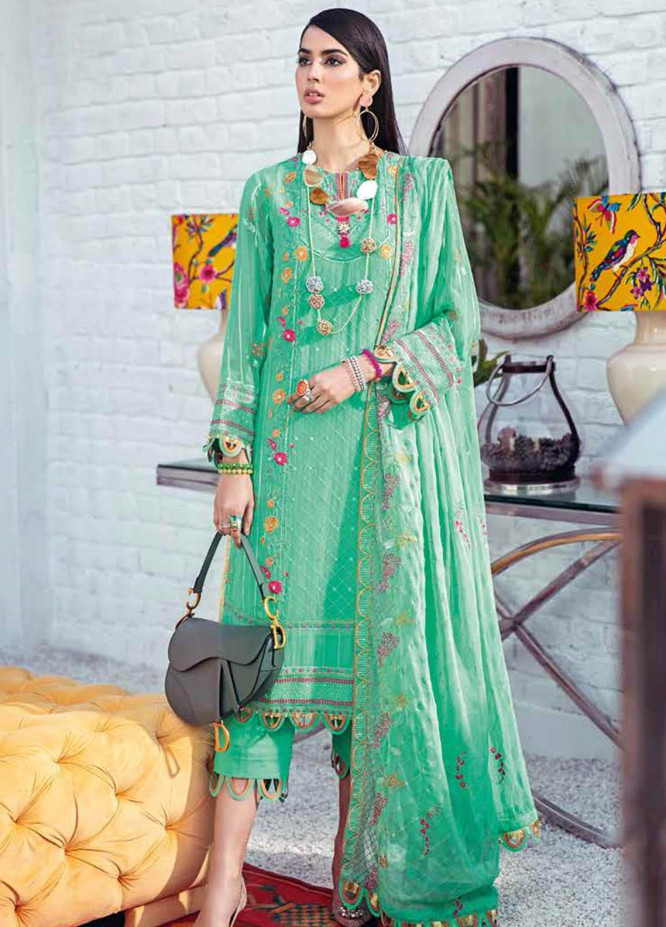Gul Ahmed Embroidered Chiffon Suits Unstitched 3 Piece GA21S LE 30 - Summer Collection