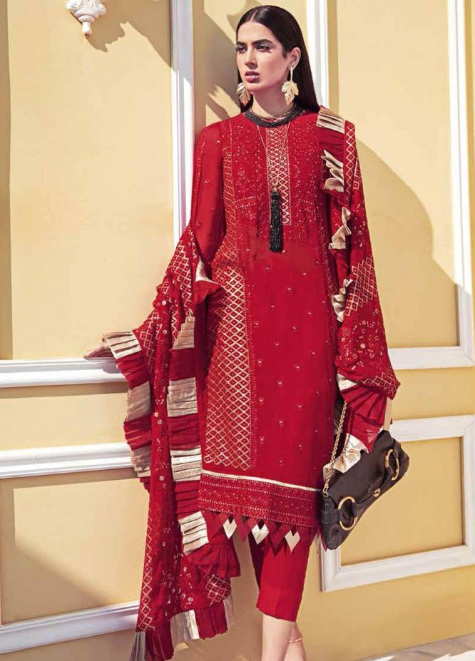 Gul Ahmed Embroidered Chiffon Suits Unstitched 3 Piece GA21S LE 35 - Summer Collection