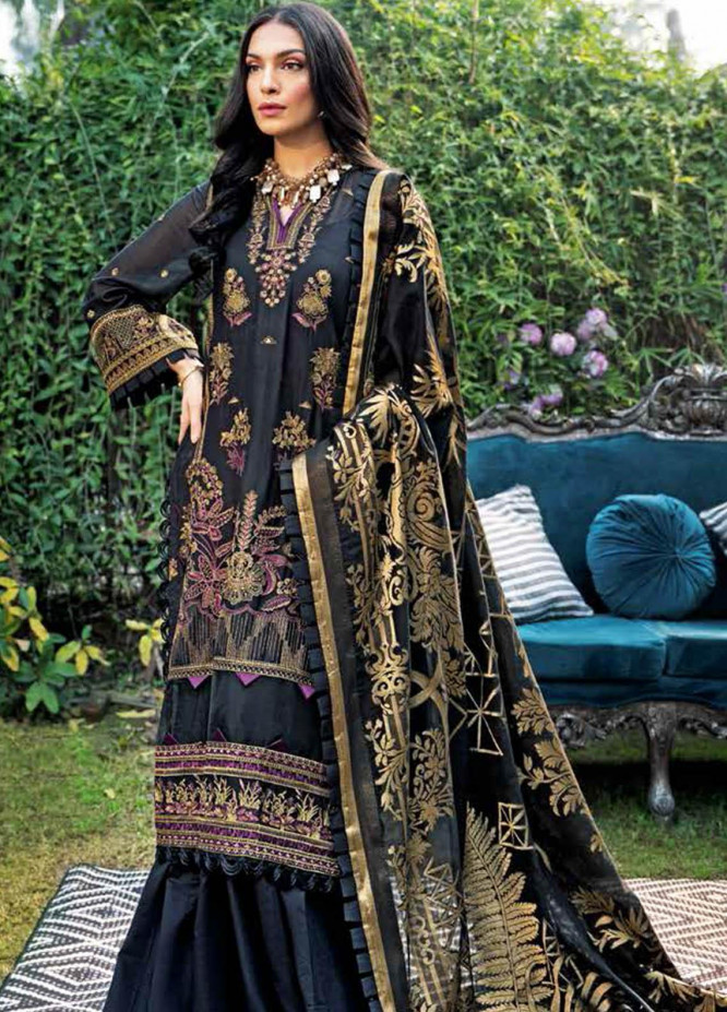 Gul Ahmed Embroidered Swiss Voile Suits Unstitched 3 Piece GA21S LSV 47 - Summer Collection