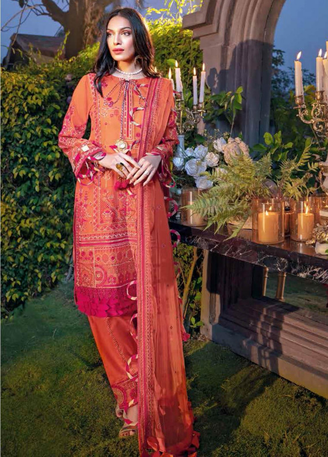 Gul Ahmed Embroidered Swiss Voile Suits Unstitched 3 Piece GA21S LSV 51 - Summer Collection