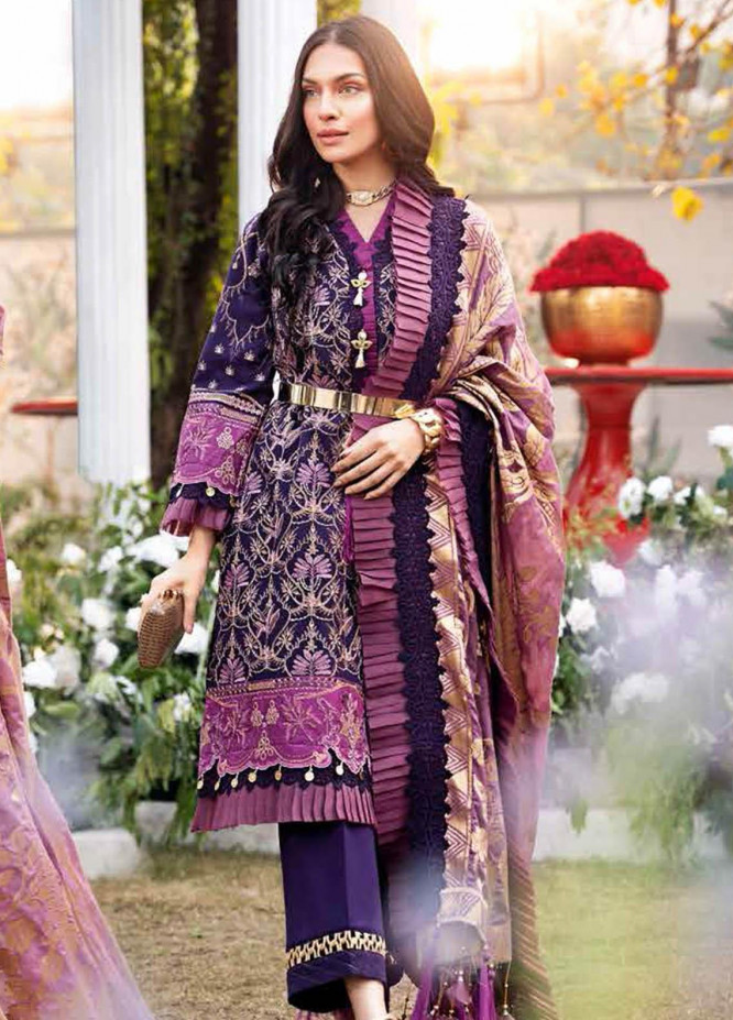 Gul Ahmed Embroidered Swiss Voile Suits Unstitched 3 Piece GA21S LSV 53 - Summer Collection