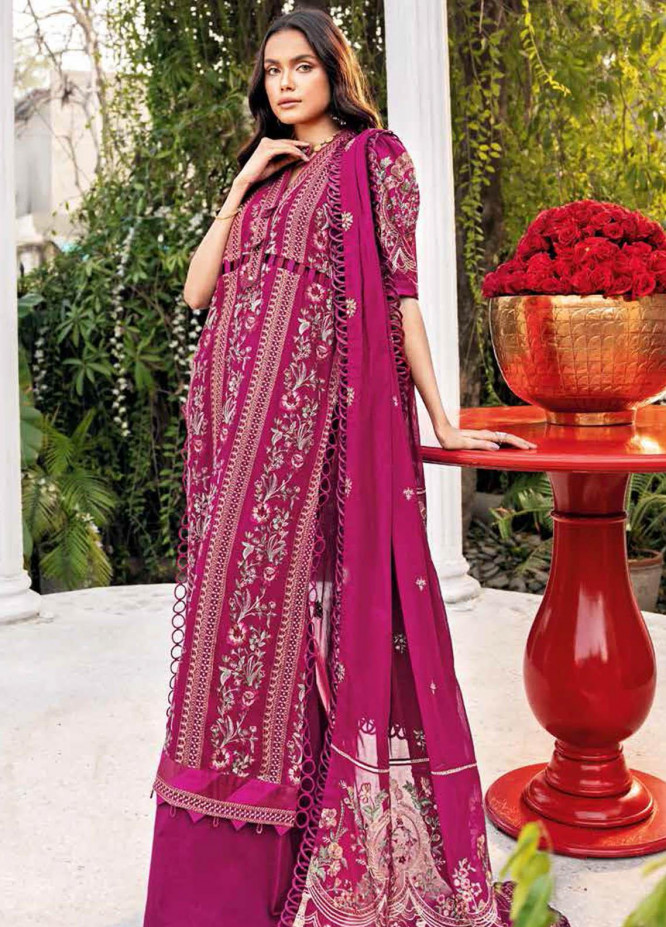 Gul Ahmed Embroidered Swiss Voile Suits Unstitched 3 Piece GA21S LSV 57 - Summer Collection