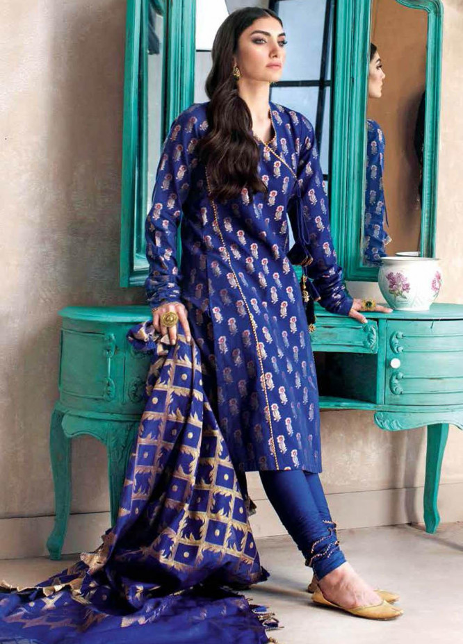 Gul Ahmed Embroidered Jacquard Suits Unstitched 3 Piece GA21S MJ 51 - Summer Collection