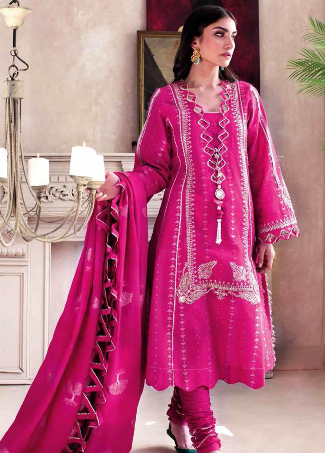 Gul Ahmed Embroidered Jacquard Suits Unstitched 3 Piece GA21S MJ 52 - Summer Collection