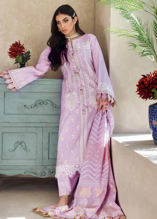 Gul Ahmed Embroidered Lawn Suits Unstitched 3 Piece GA21S MJ 55 - Summer Collection
