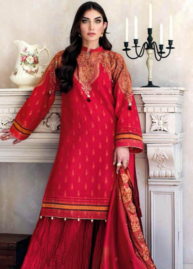 Gul Ahmed Embroidered Jacquard Suits Unstitched 3 Piece GA21S MJ 57 - Summer Collection