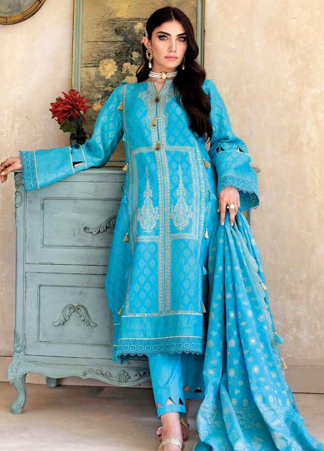 Gul Ahmed Embroidered Jacquard Suits Unstitched 3 Piece GA21S MJ 58 - Summer Collection