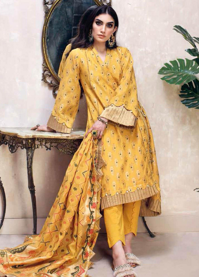 Gul Ahmed Embroidered Jacquard Suits Unstitched 3 Piece GA21S MJ 62 - Summer Collection