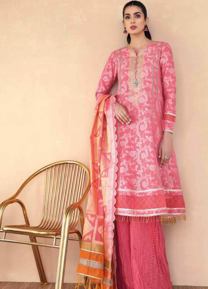 Gul Ahmed Embroidered Jacquard Suits Unstitched 3 Piece GA21S MJ 63 - Summer Collection