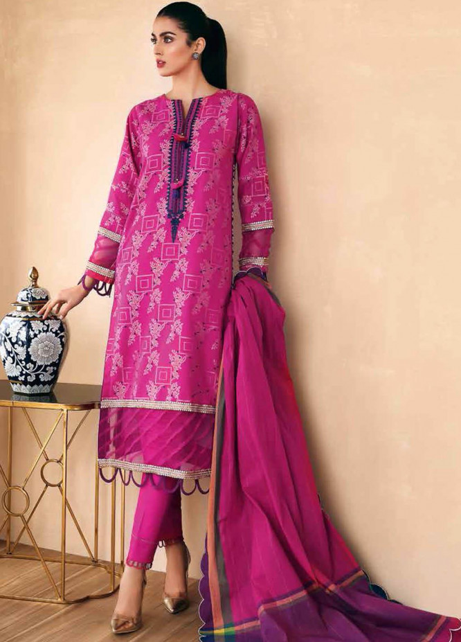Gul Ahmed Embroidered Jacquard Suits Unstitched 3 Piece GA21S MJ 67 - Summer Collection