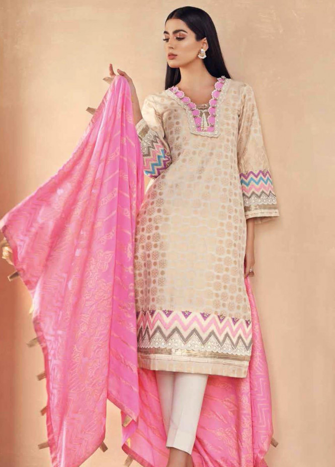 Gul Ahmed Embroidered Jacquard Suits Unstitched 3 Piece GA21S MJ 68 - Summer Collection