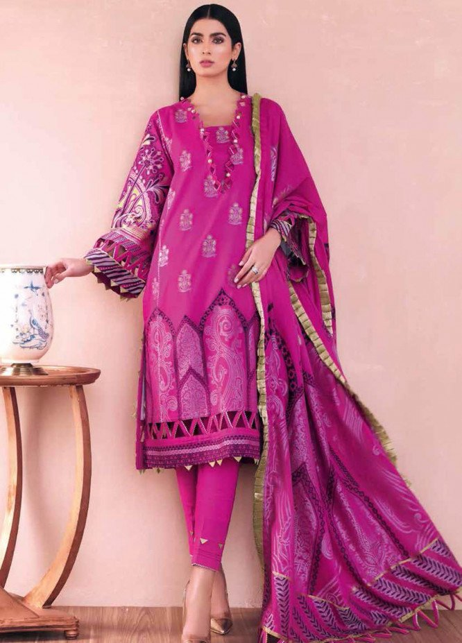 Gul Ahmed Embroidered Jacquard Suits Unstitched 3 Piece GA21S MJ 69 - Summer Collection