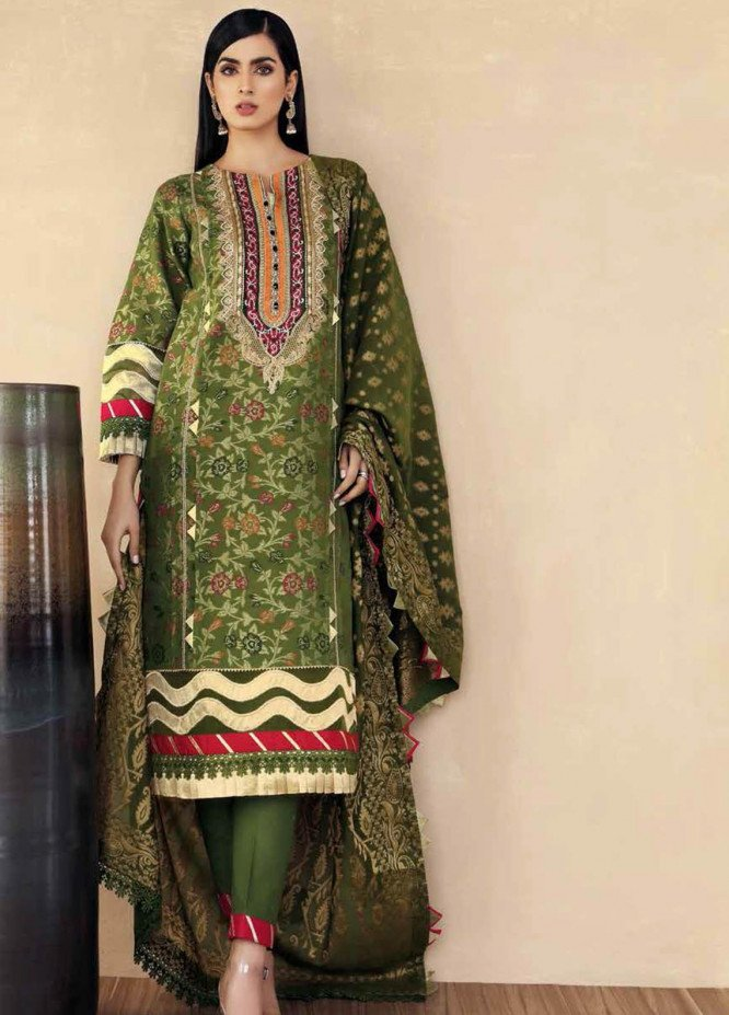 Gul Ahmed Embroidered Jacquard Suits Unstitched 3 Piece GA21S MJ 70 - Summer Collection