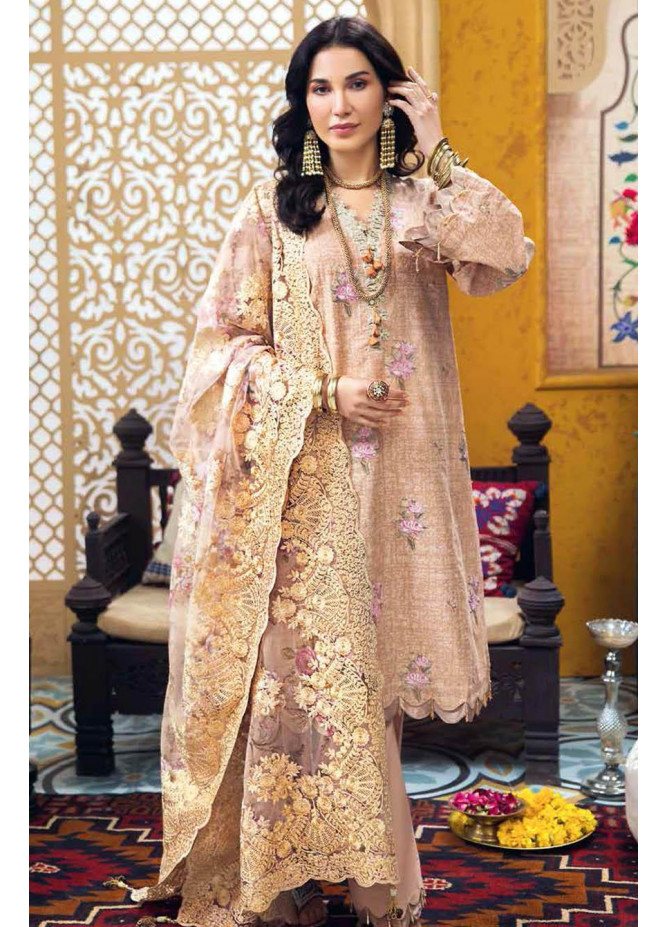 Gul Ahmed Embroidered Chiffon Suits Unstitched 3 Piece GA21S PM 334 - Summer Collection