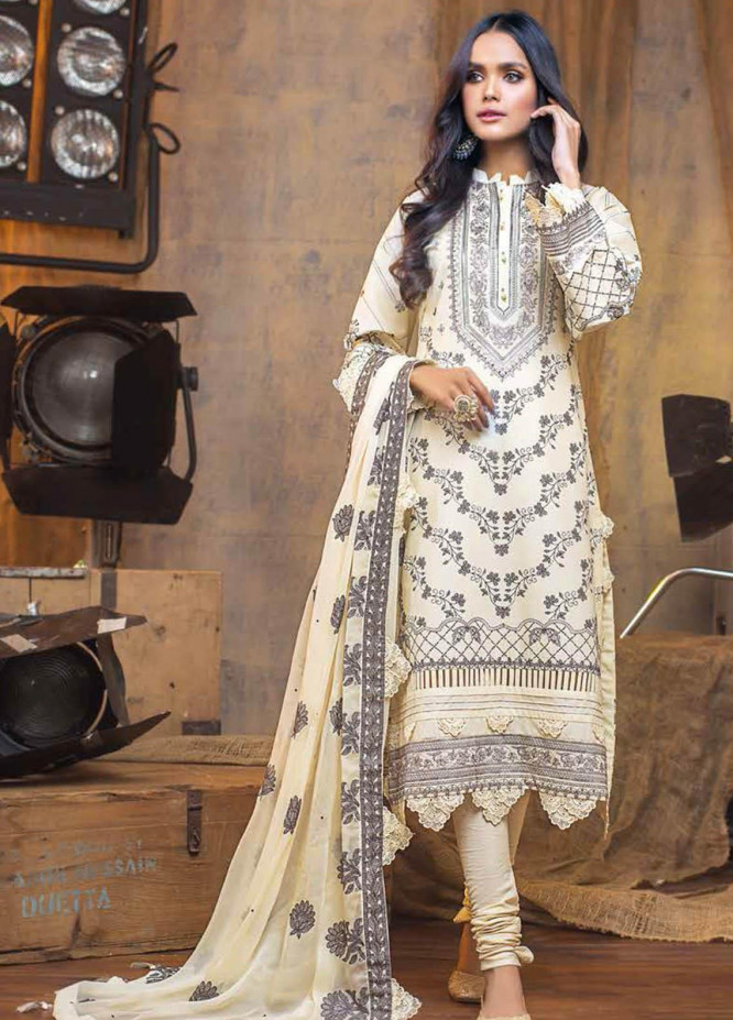 Gul Ahmed Embroidered Lawn Suits Unstitched 3 Piece GA21S PM 388 - Summer Collection