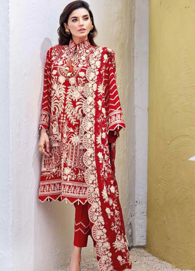 Gul Ahmed Embroidered Lawn Suits Unstitched 3 Piece GA21S PM 389 - Summer Collection