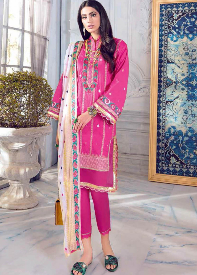 Gul Ahmed Embroidered Jacquard Suits Unstitched 3 Piece GA21S PM 393 - Summer Collection