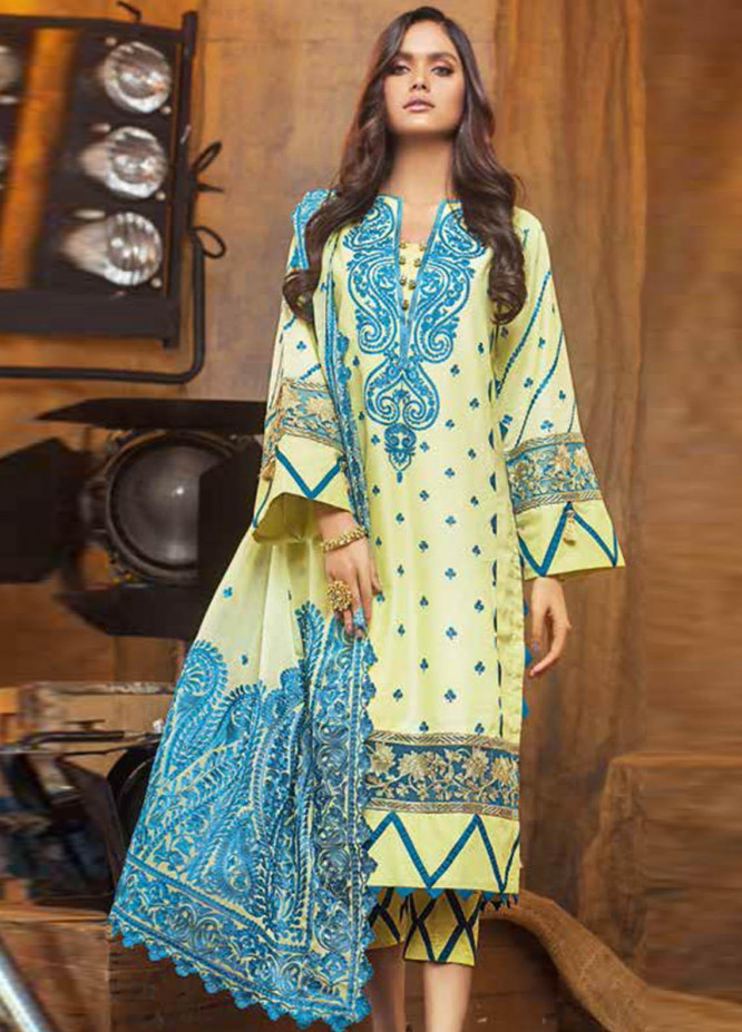Gul Ahmed Embroidered Lawn Suits Unstitched 3 Piece GA21S PM 410 - Summer Collection
