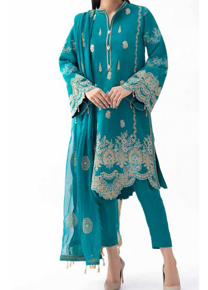 Gul Ahmed Embroidered Lawn Suits Unstitched 3 Piece GA21S PM 423 - Summer Collection