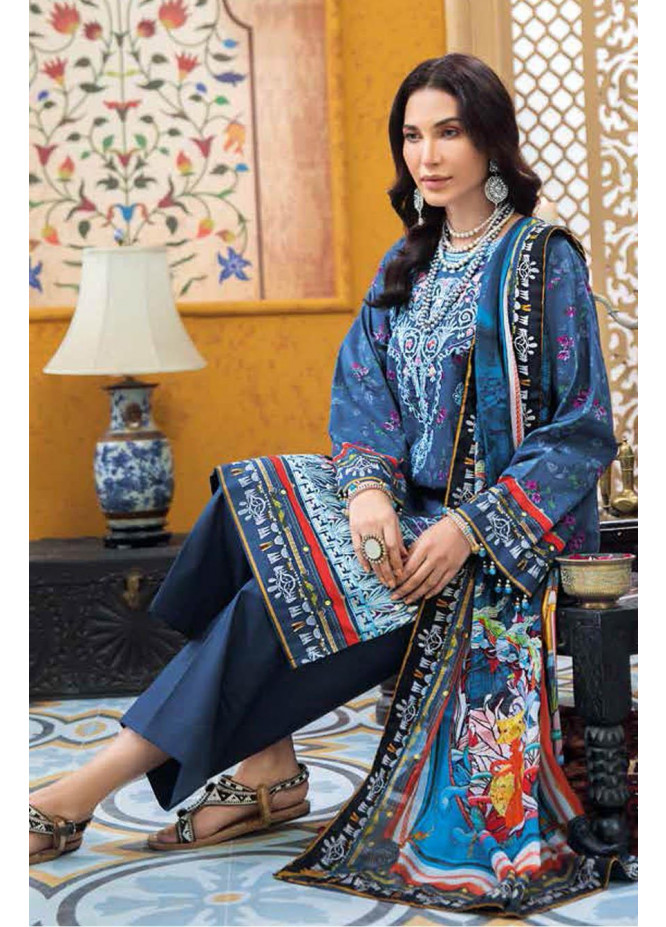 Gul Ahmed Embroidered Lawn Suits Unstitched 3 Piece GA21S SSM 43 - Summer Collection