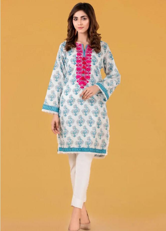 Gul Ahmed Pret Embroidered Cambric Shirt GA21P WGK-LWS-PE-244