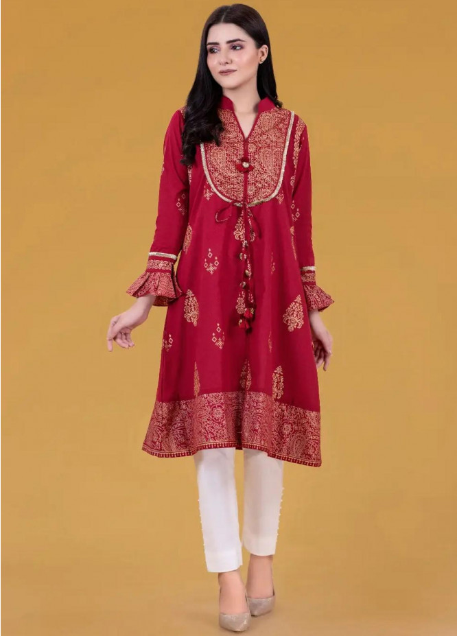 Gul Ahmed Pret Printed Cambric Shirt GA21P WGK-LWS-SP-239