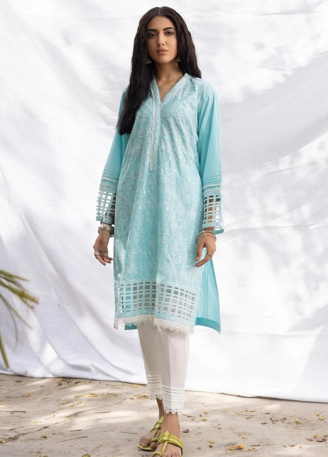 Gul Ahmed Pret Embroidered Cambric Shirt GA21P WGK-CMS-DE-210