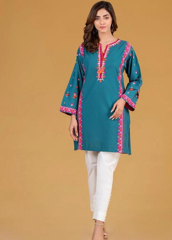 Gul Ahmed Pret Embroidered Cambric Shirt GA21P WGK-CMW-DE-201