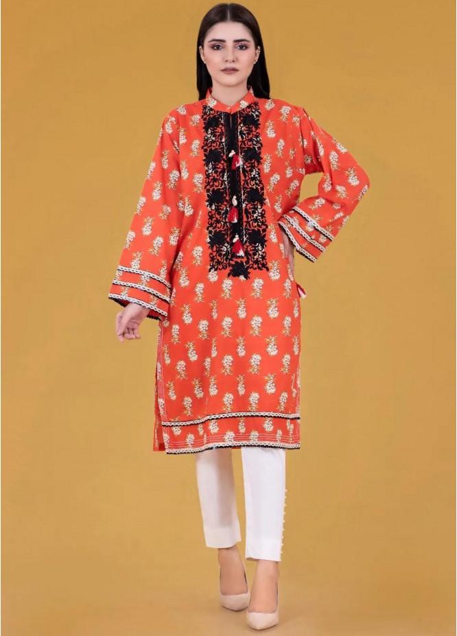 Gul Ahmed Pret Embroidered Cambric Shirt GA21P WGK-LWS-PE-245