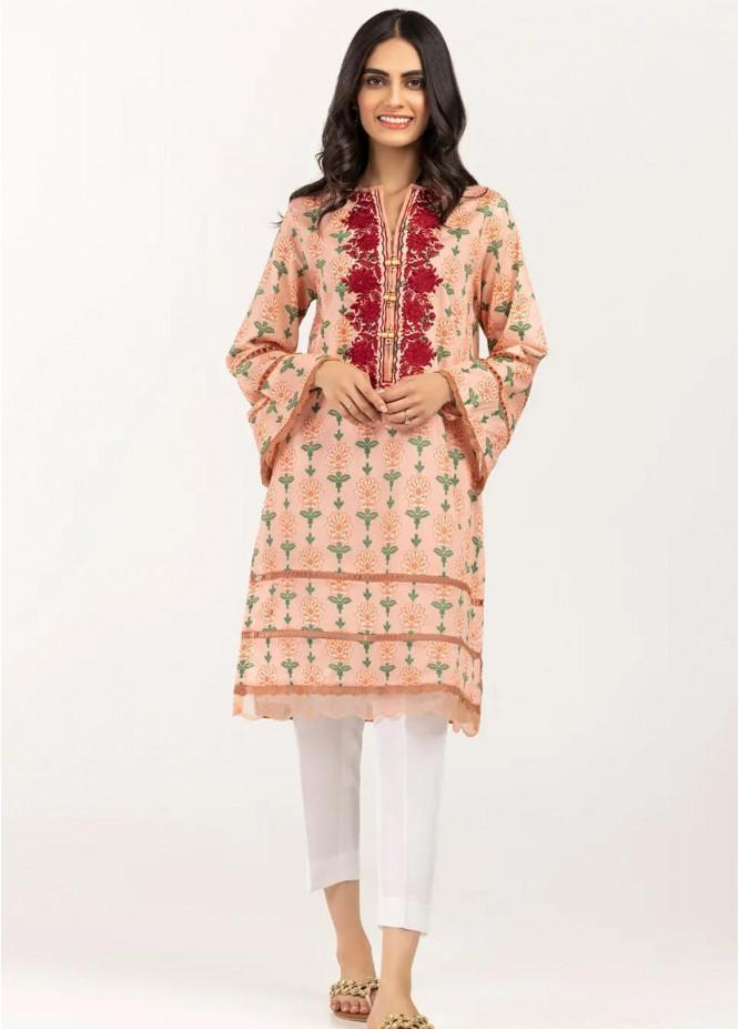 Gul Ahmed Pret Embroidered Cambric Shirt GA21P WGK-LWS-PE-247