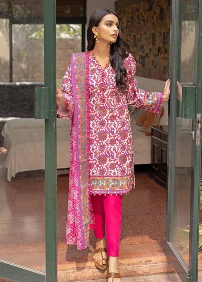 Rang Angan By Gul Ahmed Printed Lawn Suits Unstitched 3 Piece GA21RA CL-1264 A - Summer Collection