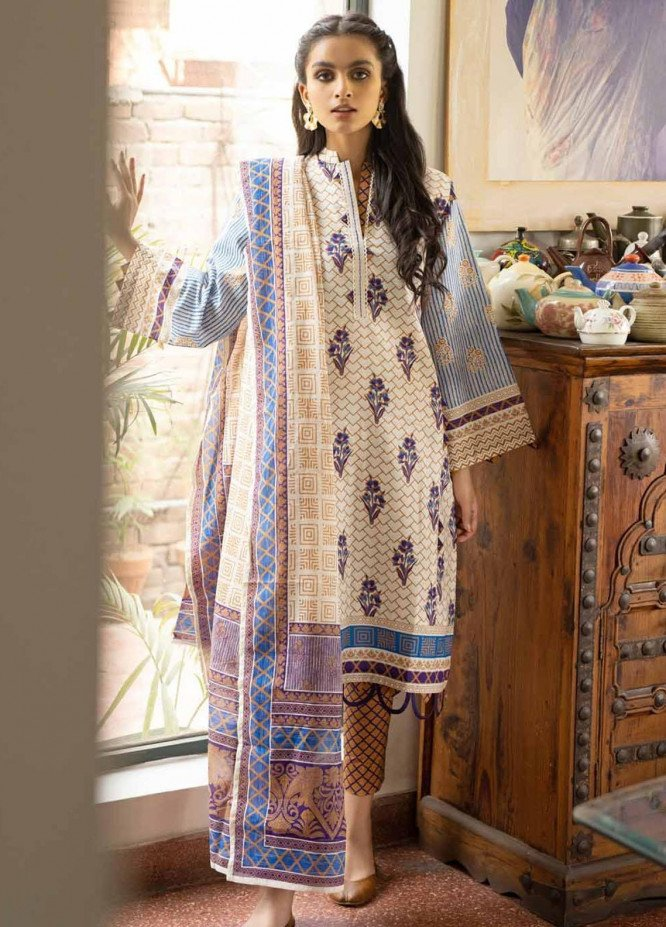 Rang Angan By Gul Ahmed Printed Lawn Suits Unstitched 3 Piece GA21RA CL-1267 B - Summer Collection