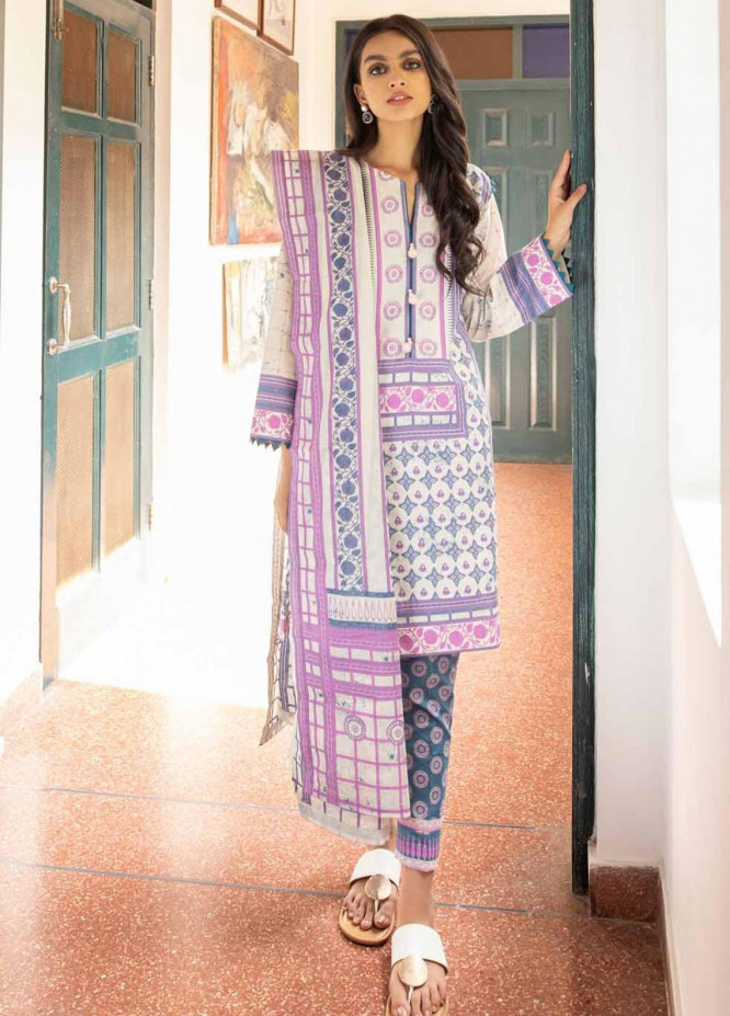 Rang Angan By Gul Ahmed Printed Lawn Suits Unstitched 3 Piece GA21RA CL-1268 B - Summer Collection