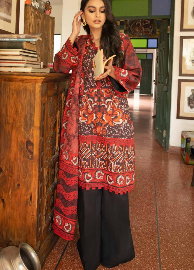 Rang Angan By Gul Ahmed Printed Lawn Suits Unstitched 3 Piece GA21RA CL-1269 A - Summer Collection